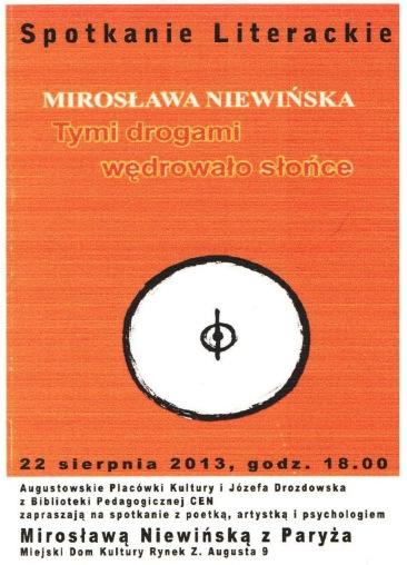 aout 22_Zaproszenie ma spotkanie z p. Mirosławą Niewińska